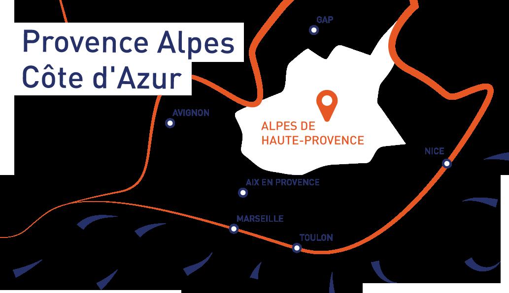 Carte des Alpes de Haute-Provence ©ADT04