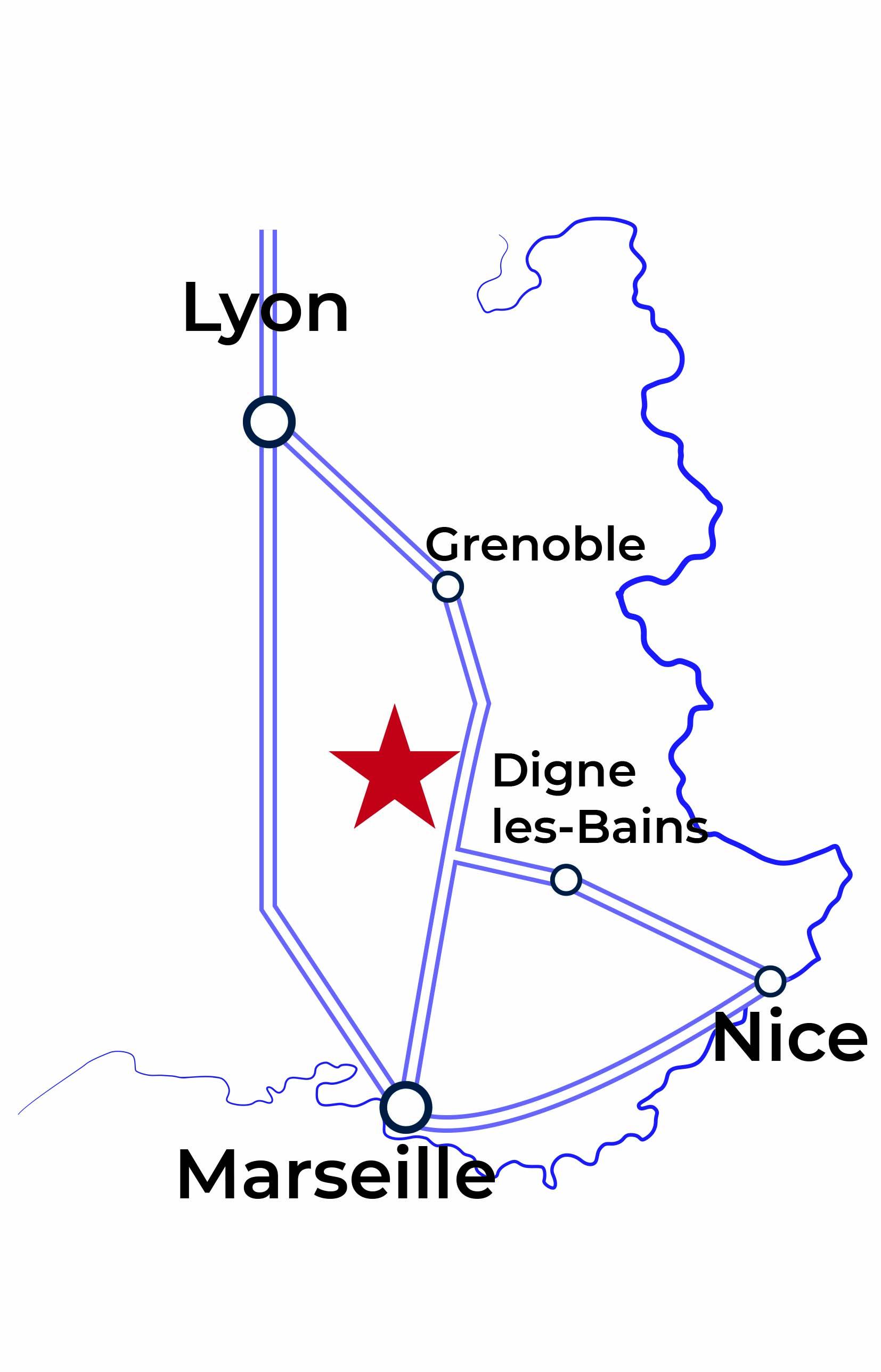 Carte Pays de Lure en Haute-Provence